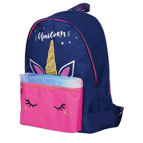 Купить Berlingo Рюкзак Nice Unicorn, синий/розовый, Рюкзаки, ранцы
