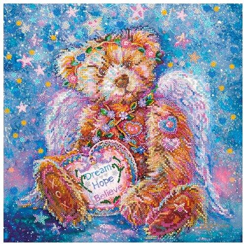 Купить ABRIS ART Набор для вышивания бисером Плюшевый ангел 30 х 30 см (AC-314), Наборы для вышивания