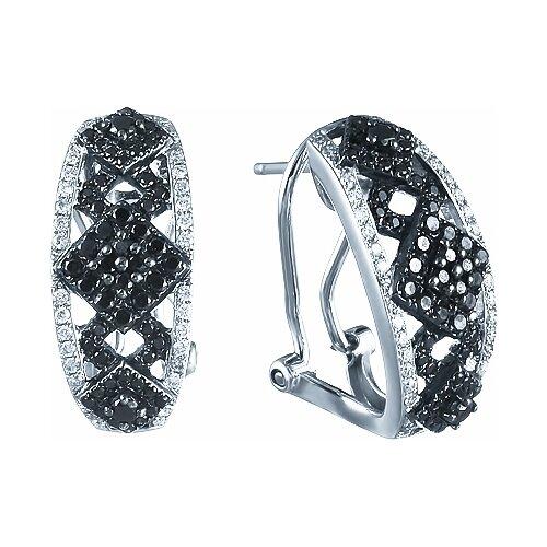 JV Серьги с бриллиантами из белого золота E0182DIN-KS01-0533-DB-WG
