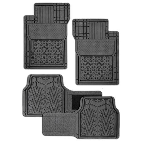 Комплект ковриков AUTOPROFI FIX-520 4 шт. черный