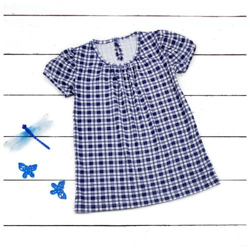 Платье АЛИСА размер 86, синий/белый