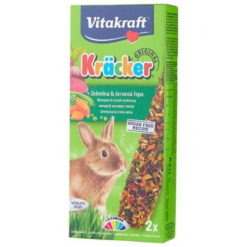 Лакомство для кроликов Vitakraft Крекеры Original свекла и овощи 112 г