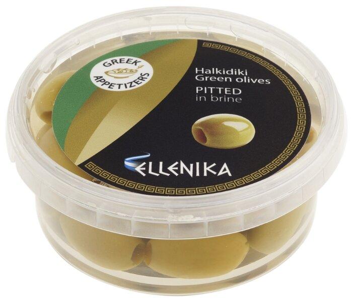 ELLENIKA Оливки зеленые без косточки в рассоле, 250 г