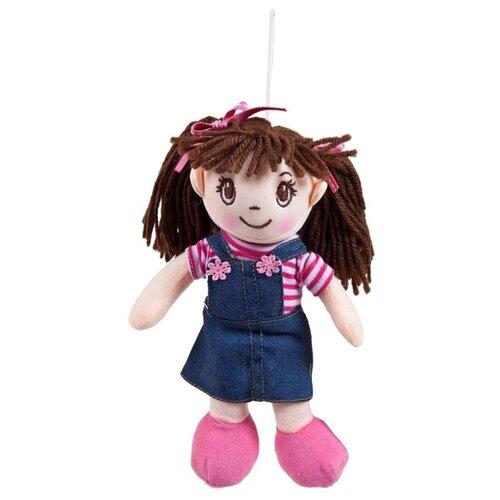 Мягкая игрушка ABtoys Кукла в джинсовом сарафане 20 см ABtoys   фото