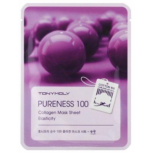 Фото - TONY MOLY тканевая маска Pureness 100 Collagen повышающая эластичность, 21 мл tony moly тканевая маска pureness 100 pearl 21 мл