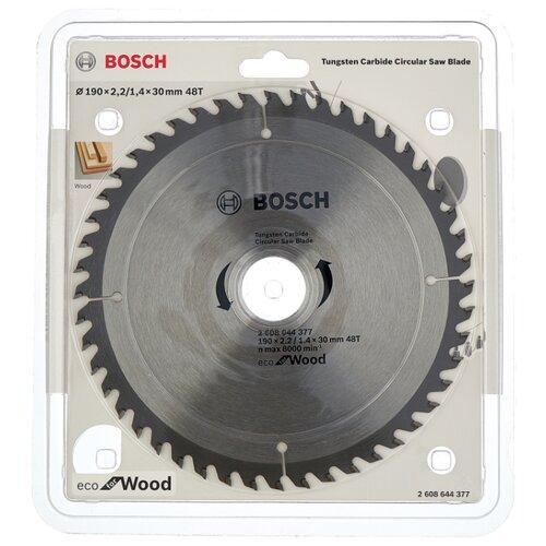 Пильный диск BOSCH Eco Wood 2608644377 190х30 мм диск пильный bosch eco wood 230 ммx30 мм 48зуб 2608644382