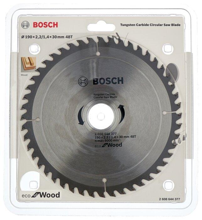 Пильный диск BOSCH Eco Wood 2608644377 190х30 мм