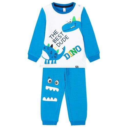 Купить Комплект одежды playToday размер 74, голубой/белый, Комплекты