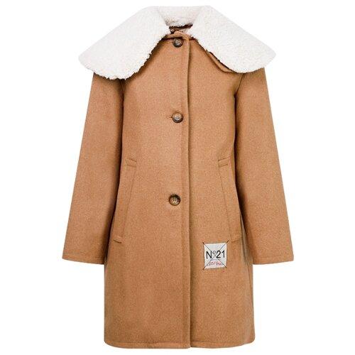 Пальто N° 21 N21453 N0025 размер 116, коричневый laete n0025 2
