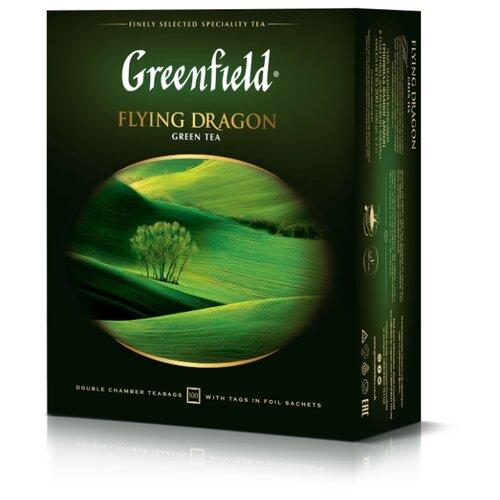 Чай зеленый Greenfield Flying Dragon в пакетиках , 200 г , 100 шт.