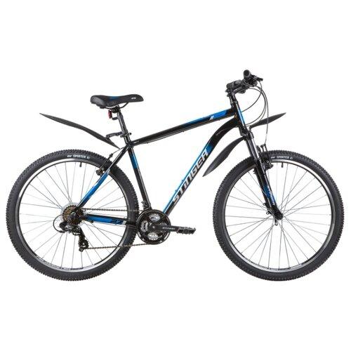 Горный (MTB) велосипед Stinger Element STD 27.5 (2020) с крыльями черный 20 (требует финальной сборки) велосипед stinger 26 banzai 20 синий 26 sfv banzai 20 bl7