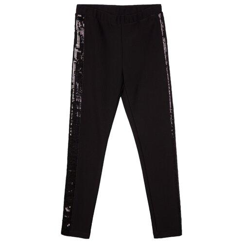 Купить Леггинсы playToday Black Couture Kids Girls 120221018 размер 140, черный, Брюки