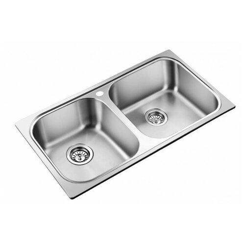 Врезная кухонная мойка 78 см Oulin OL-S8905 OL-8905 нержавеющая сталь/сатин oulin ol va8109
