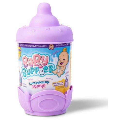 Фото - Интерактивный пупс Baby Buppies Малыш в колыбельке, 8 см, Violet/astBP002D2 интерактивный пупс baby doll