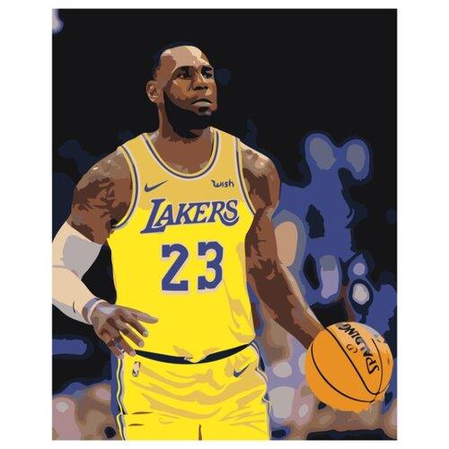 Купить LA Lakers Раскраска картина по номерам на холсте Z-AB258 40х50, Живопись по номерам, Картины по номерам и контурам