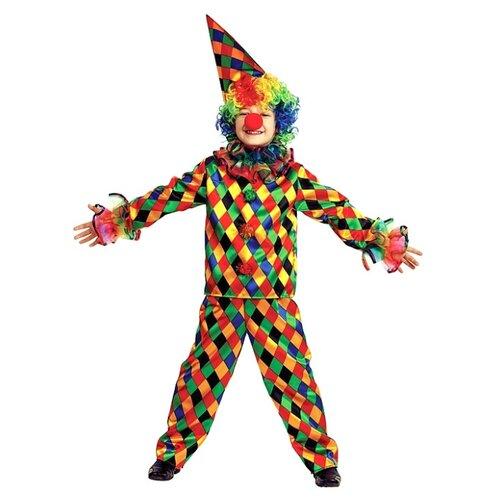 Купить Костюм Батик Арлекино (7007), зеленый/красный/желтый, размер 140, Карнавальные костюмы