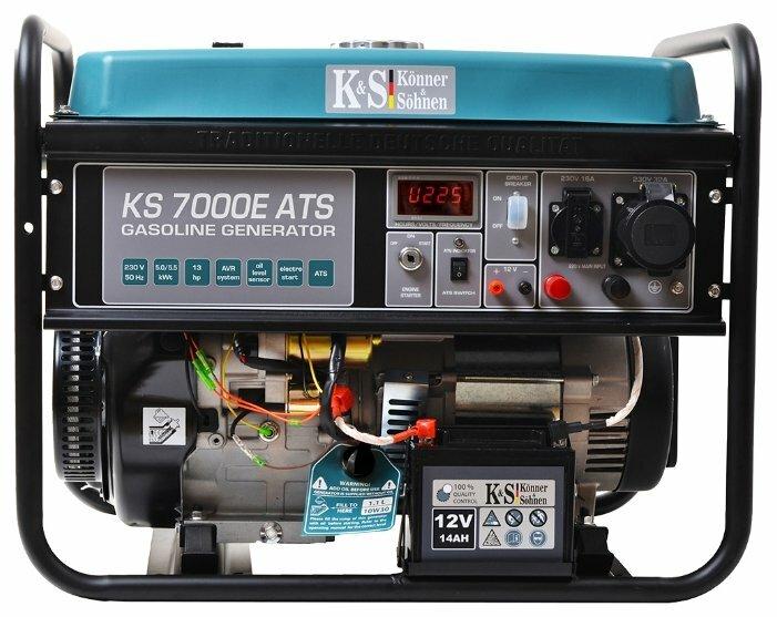Бензиновый генератор K&S Könner & Söhnen KS 7000E ATS (5000 Вт)