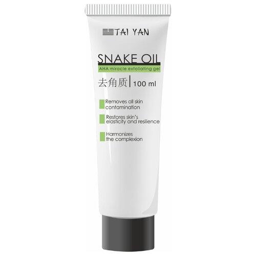TAI YAN гель-скатка Snake Oil AHA Miracle Exfoliating Gel 100 г tai yan альгинатная маска чайное дерево и ива 30 г