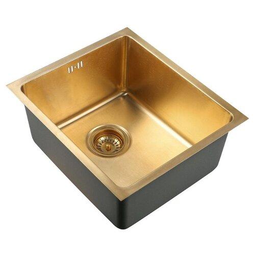 Врезная кухонная мойка 38 см ZorG PVD SZR-4438 BRONZE SZR 4438 BRONZE бронза тропа hercules 4438