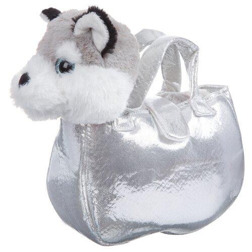 Мягкая игрушка Bondibon Милота Лайка в серебристой сумке 20 cм