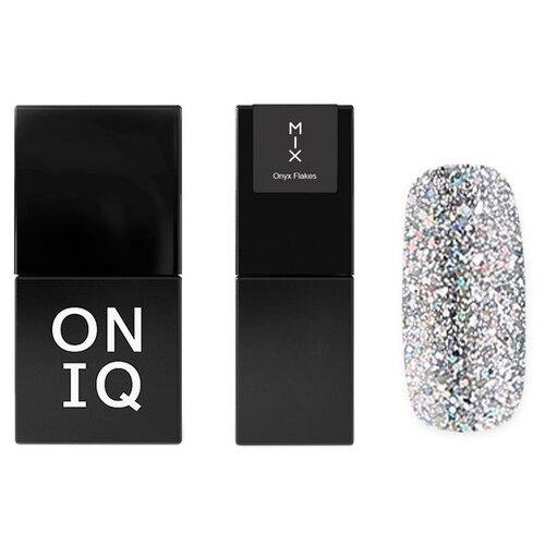 Гель-лак для ногтей ONIQ MIX, 10 мл, 099 Onyx Flakes гель лак для ногтей oniq mix 6 мл 104s green and pink yuki flakes