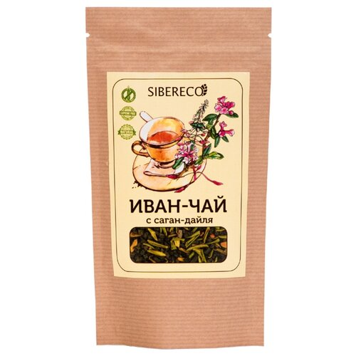 Чай травяной Sibereco Иван-чай с саган-дайля, 50 г чай травяной polezzno саган дайля 50 г