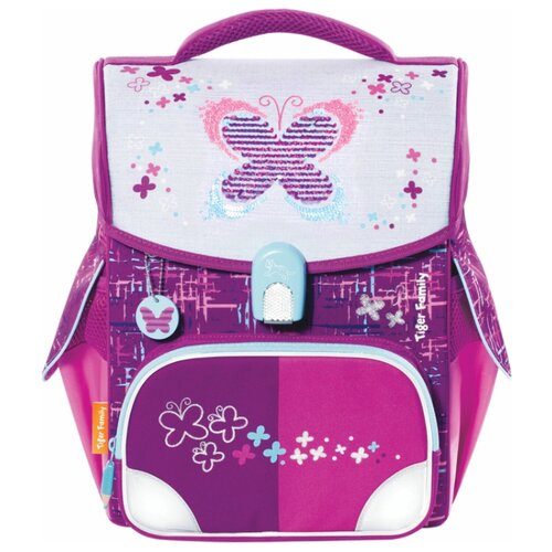 TIGER FAMILY ранец Jolly Playful Butterfly (TGJL-036A), фиолетовый/розовый tiger family пенал rainbow butterfly 228885 розовый