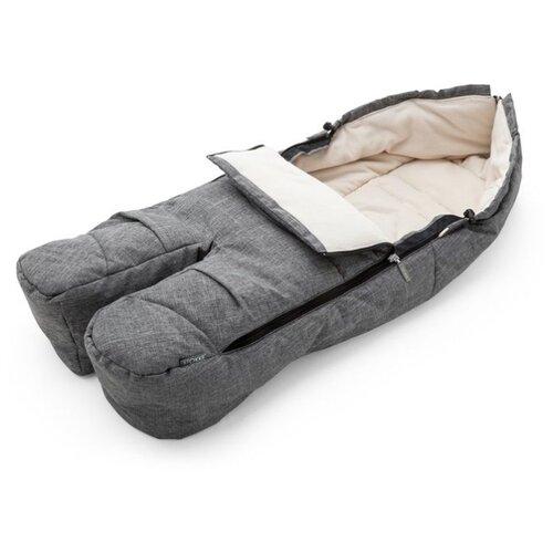 Купить Stokke Муфта для ног Footmuff черный меланж, Аксессуары для колясок и автокресел