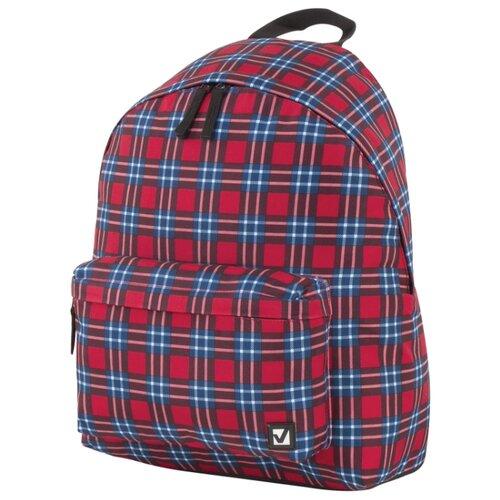 BRAUBERG рюкзак Шотландская клетка (228861), красный/синий рюкзак brauberg 227073
