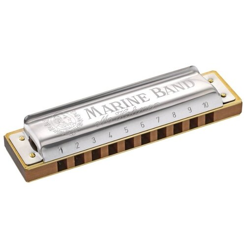 Фото - Губная гармошка Hohner Marine Band 1896/20 (M1896126X) B, серебристый/коричневый губная гармошка hohner marine band thunderbird m201115x e low бежевый серебристый