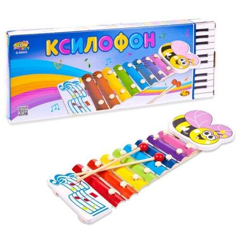 Купить Ксилофон DoReMi детский, в коробке, 36 см (D-00043), Детские музыкальные инструменты