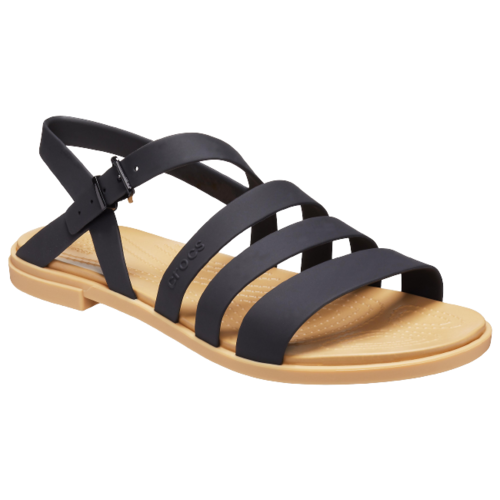 сабо женские crocs classic mammoth luxe цвет черный 204211 001 размер m7 w9 39 40 Сандалии Crocs Tulum , размер 39(W9) , black/tan