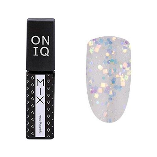 Гель-лак для ногтей ONIQ MIX, 6 мл, 094S Sparkling Silver гель лак для ногтей oniq mix 6 мл 104s green and pink yuki flakes