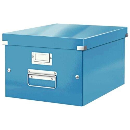 Купить Leitz Короб архивный Click & store WOW M А4, ламинированный картон синий, Файлы и папки