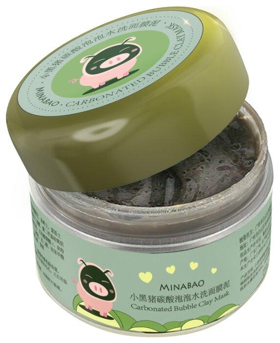 Minabao Carbonated Bubble Clay Mask Очищающая кислородная пузырьковая маска на основе глины