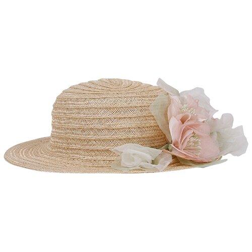 Купить Шляпа ColoriChiari размер 56, бежевый, Головные уборы