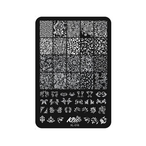 Купить Трафарет KLIO Professional №016 11 х 15 см black