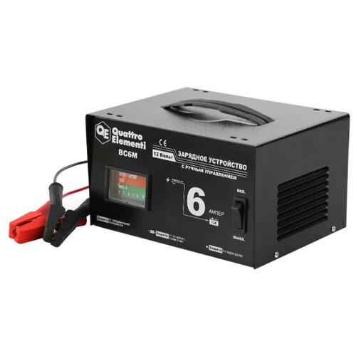 Зарядное устройство Quattro Elementi BC6M (770-070) черный зарядноеустройство quattroelementi 770 094 bc12m 12в 12а