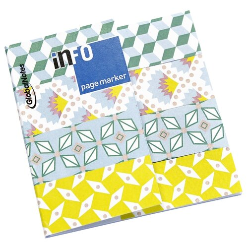 Global Notes блок-закладка с липким слоем 4 цвета по 25 л, 18х70 мм (567292) разноцветный