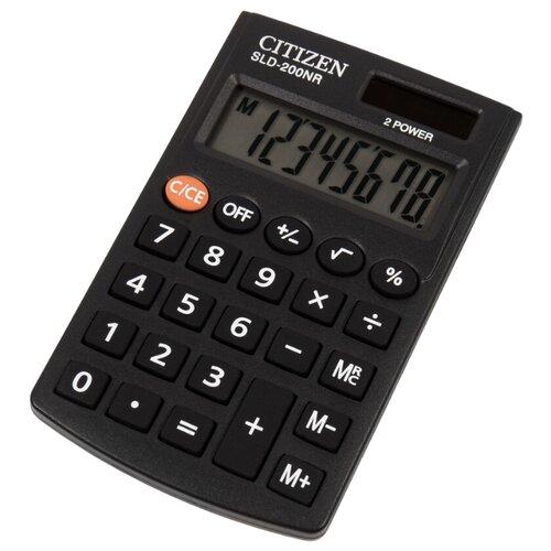 Калькулятор карманный CITIZEN SLD-200NR черный