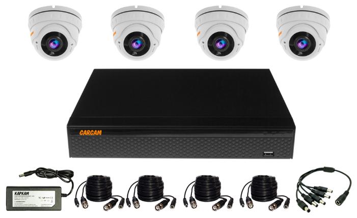 Готовый комплект видеонаблюдения CARCAM VIDEO KIT 5M-8 4 камеры