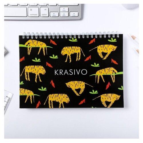 Купить Скетчбук ArtFox KRASIVO 21 х 14.8 см (A5), 120 г/м², 80 л., Альбомы для рисования