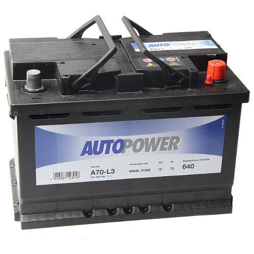 Автомобильный аккумулятор Autopower A70-L3