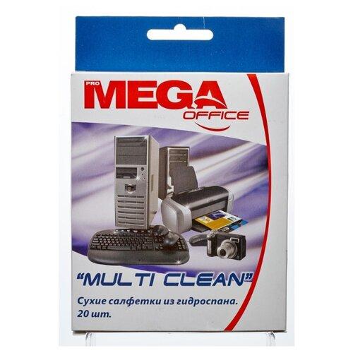Фото - Салфетки Promega office Multi Clean для чистки поверхностей гидроспан 2 уп. по 20 шт антибактериальные салфетки для поверхностей nv office мягкая упаковка 180х110 мм 15шт