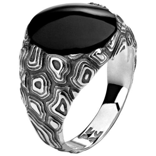 Эстет Кольцо Totem Tiger /Тигр с 1 агатом из чернёного серебра 01К459642Ч, размер 17