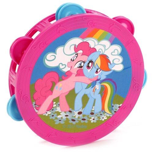 Купить Играем вместе бубен My Little Pony B421478-R2 розовый/голубой, Детские музыкальные инструменты