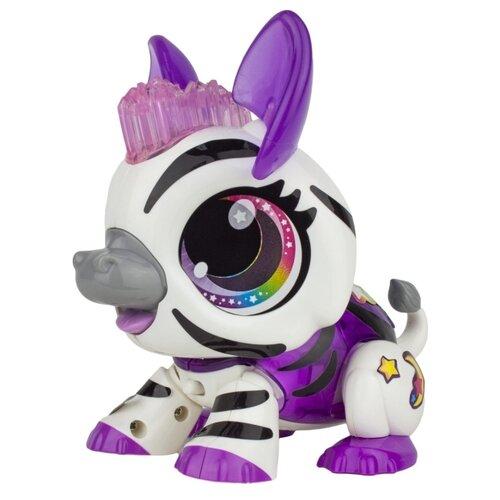 Интерактивная игрушка робот 1 TOY Робо Лайф Зебра бело-лиловый