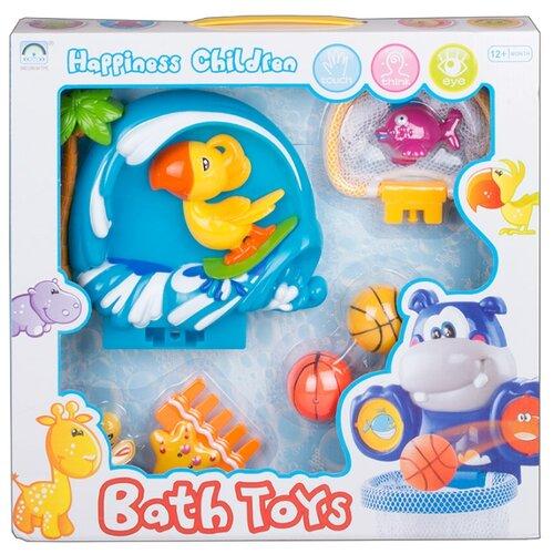 Купить Набор для ванной OCIE Водный баскетбол с попугаем синий/желтый/зеленый, Игрушки для ванной