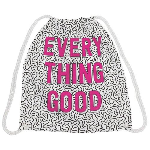 Купить JoyArty Рюкзак-мешок Все хорошо (bpa_7919) розовый/белый/черный, Мешки для обуви и формы