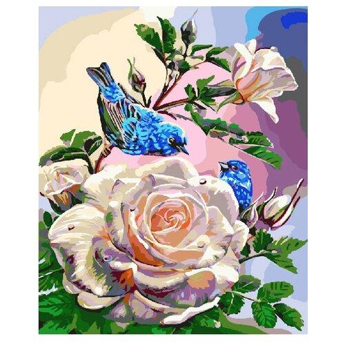Купить ВанГогВоМне Картина по номерам Птицы на розах , 40х50 см (ZX 20867), Картины по номерам и контурам